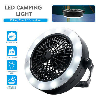 UK Outdoor Tent Camping Light with Ceiling Fan LED Lantern Camping Gear