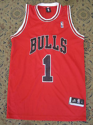 DERRICK ROSE CHICAGO BULLS NBA APPROVED BASKETBALL JERSEY Adult LARGE
