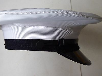 "Vintage Royal Navy Naval Officers? White Hat Cap - Fancy Dress (8"" 21cm)"