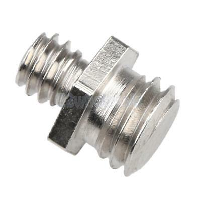 """Dual 1/4"""" Male to 3/8"""" Male Threaded Screw Adapter for Photography Tripod"""