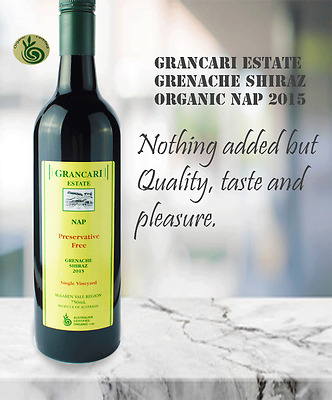 Grancari Shiraz 2015 No Preservatives , Premium Twin Pack (2 bottles)
