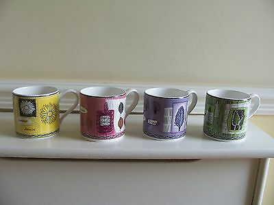 Wedgwood Set Of 4 Bone China 'seasons' Mugs