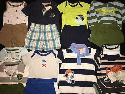 Boys 0-3 Months Clothes Outfit Lot Child Of Mine Shorts Shirts Jacket Romper