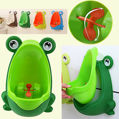 Cute Frog Baby Boy Potty Training Kid Toilet Urinal Boys Pee Trainer Bathroom