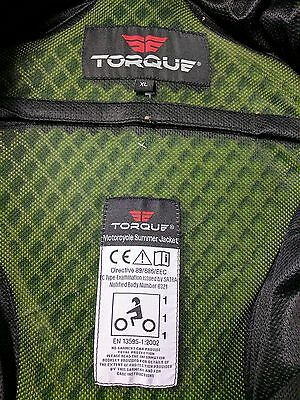 Torque Cordura motorcycle jacket + Armour - XL - Only worn 3 times