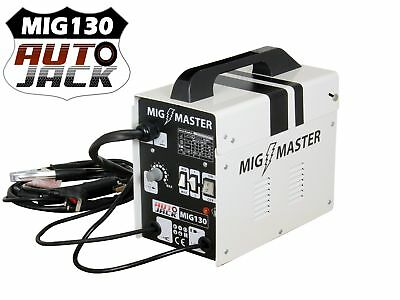 Autojack Mig Master 130 Mig130 Amp Portable Welder Gasless Inc Accessories