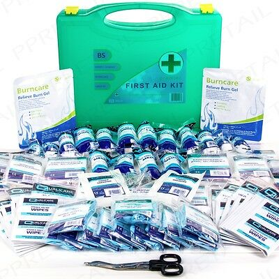 PREMIUM 210Pc First Aid Kit/Refill LARGE BSI UK APPROVED Work/Office + Bracket