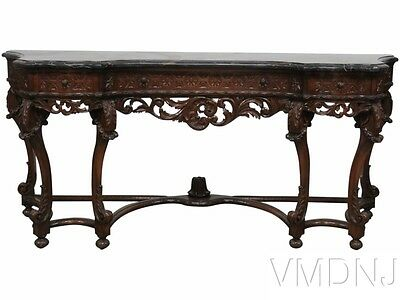 VMD 1156- Italian Style Marbletop Carved Console