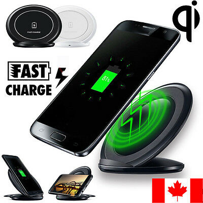 Qi Wireless Fast Charging Stand Dock Pad For Samsung Galaxy S7/ Edge iPhone free