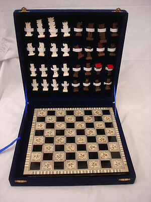 Boxed Resin Chess Set With Chess Board 30X30Cm (Wi)