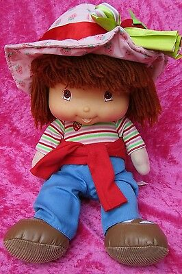 "Strawberry Shortcake TALKING STRAWBERRY 15"" Soft Plush Toy Doll 2004"