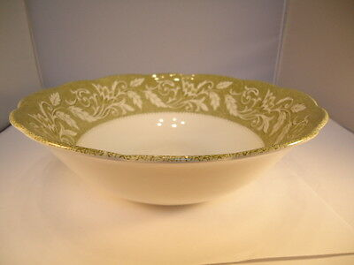 Vntg J & G Meakin English Staffordshire STERLING RENAISSANCE Green 8 1/2 in Bowl