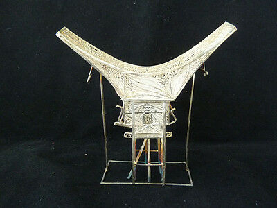 Vintage Solid Silver South East Asian Model of a House on Stilts