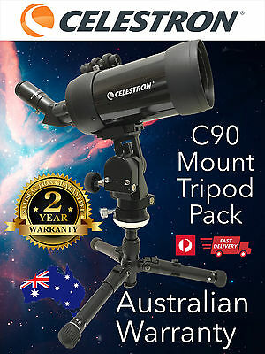 Celestron C90 MAK Astronomy Telescope + Tripod & Mount - Spotting Scope # 52268