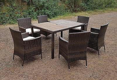 Rattan Wicker Conservatory Outdoor Garden Furniture Patio Cube Table Chair Set 6