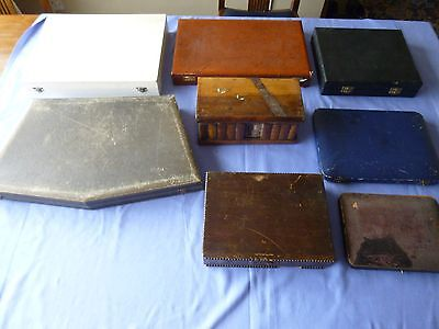 Job Lot Vintage Collectable Empty Cutlery Boxes And Cases Etc