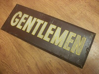 "Collectable Metal Sign "" Gentlemen "" L@@K No Reserve Man Cave L@@K......"