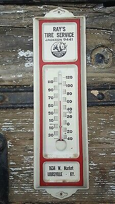 Rays Tire Service Armstrong Tires Thermometer Sign Gas Oil Rhino Louisville KY