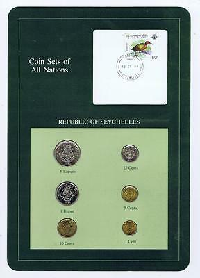 Republic of Seychelles 6 pc Mint set 1982 BU Coin Sets of All Nations stamp