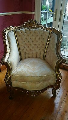 French Vintage Louis Tub Chair