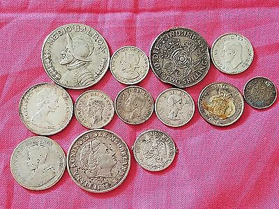 HUGE Lot of Vintage Foreign Silver Coins, Variety!