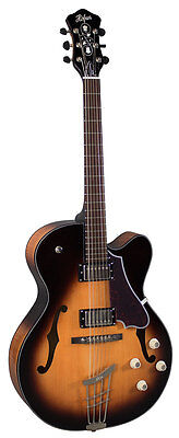 Hofner HCT Jazz Guitar - Double Pickup - Sunburst