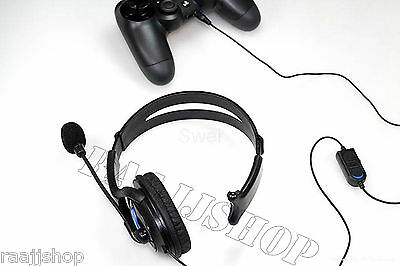 Deluxe Headset Headphone With Microphone +Volume Control For Playstation 4 & Pro