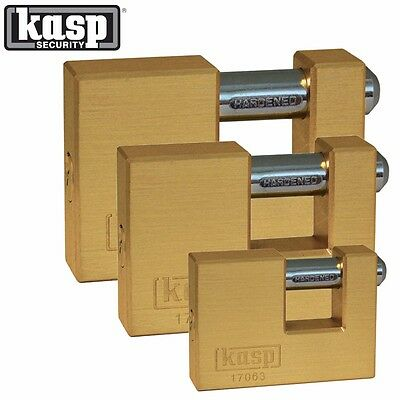 HIGH QUALITY KASP SECURITY BRASS SHUTTER PADLOCK 63/70/90mm 170 Series Lock K170