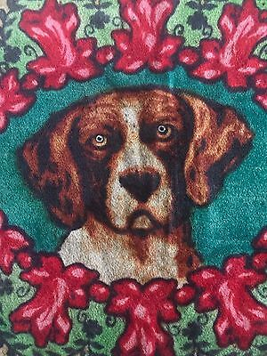 Antique CHASE Horsehair Carriage Sleigh Lap Robe Blanket Dog Glass Eyes