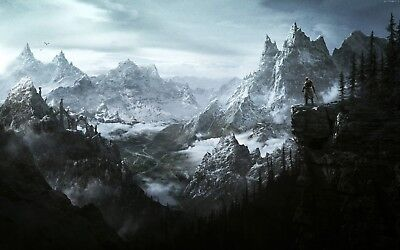 "The Elder Scrolls V Skyrim Poster Video Game Silk Art Print 13x20"" 24x36"" 32x48"""