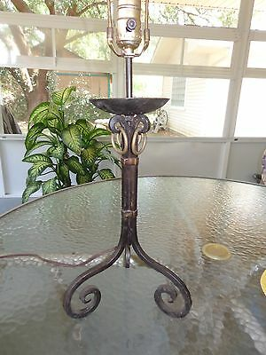 Vintage/antique Arts & Crafts/ Mission Wrought Iron & Brass Lamp
