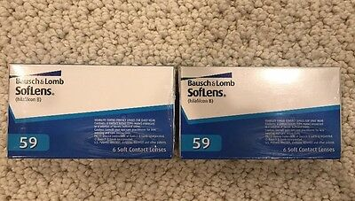 12 Contact Lenses! Bausch & Lomb Softlens PWE -6.50, BC 8.6, DIA 14.2 NEW