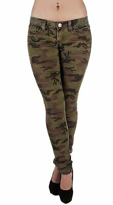 5027 - Classic 5 Pockets Camouflage Premium Skinny Jeans