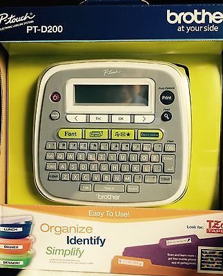 Label Maker Brother P-touch Home /Office Labeler (PT-D200)  New    Free Shipping