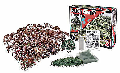 Woodland Scenics Scenery Kit - Forest Canopy * Dark Green *