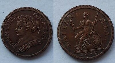 1714 The year of Queen Anne's Death 1 Farthing United Kingdom - COPY COIN