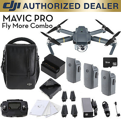 DJI Mavic Pro Fly More Combo - 12MP 4K Stabilized Camera, Active Track, GPS