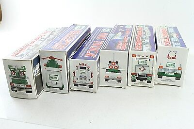 Lot of 6 Classic Collectible Hess Trucks Featuring Years 96, 97, 99, 00, 01, 02