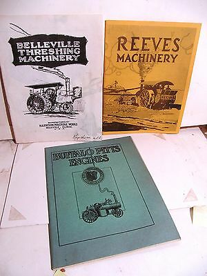 Lot 3 Vintage Reproductions Catalogs Old Steam Engines & Farm Equipment