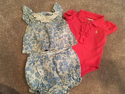 Baby Girl RALPH LAUREN Spring Summer Polo Outfits 3M