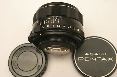 Pentax Super Takumar 50mm F1.4 lens.  M42 screw fit