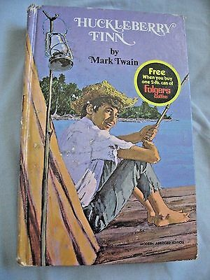 Vintage HUCKLEBERRY FINN by Mark Twain FOLGER'S COFFEE PROMOTION -1970 -Whitman