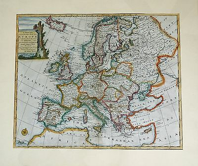 "Original Antique Map ""A New and Accurate Map of Europe"", Bowen, 1747"