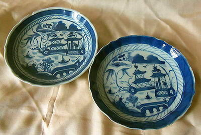 Chinese Canton Export Porcelain Dishes Nineteenth Century