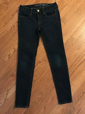 American Eagle stretch skinny jeggings sz. 00 short denim dark wash