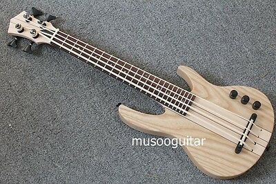 MiNi 4string ukulele electric bass natural color neck-thru style