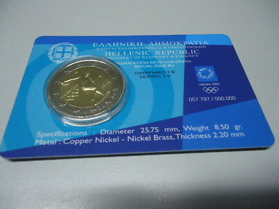 GRIECHENLAND 2004 - 2 Euro in stgl./Coincard - OLYMPIA ATHEN