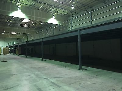 220' x 24' STEEL MEZZANINE | FREE STANDING | FREE STAIRCASE!