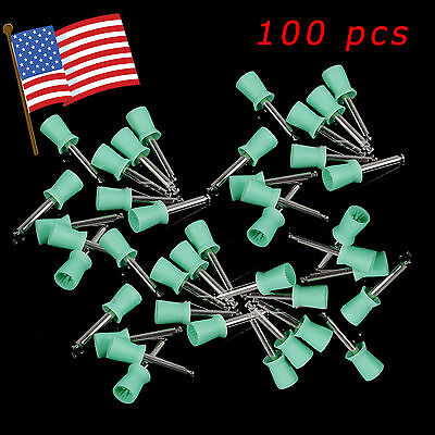 100*USA Dental Teeth Prophy Polish Polishing Cup Brush Latch E-Type Rubber Soft