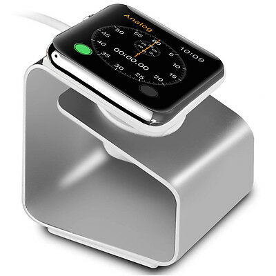 Charging Charger Stand Holder Docking Station For Apple Watch 38/42mm Silver